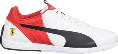 Mens Puma Ferrari Motorsport Evo SPEED  1,4 305555 Sneakers Shoes Red white size #PUMA #FERRARI