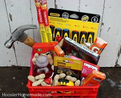 Gift Basket for Men. This would be nice for someone heading off to college or setting up a new home
