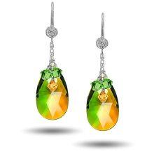 Swarovski Blended Pear Drop Earring Kit - Fern Green / Topaz Blend