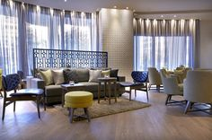 Wyndham Grand Athens hotel welcomes you, fully renovated, to a new haven of affordable luxury in the center of Athens. Conveniently located right next to Metaxourgeio metro station Wyndham Grand Athens is the ideal starting point to explore Athens. Athens Hotel, Relax, Lounge, Bar, Silk, Luxury, Home Decor, Airport Lounge, Decoration Home