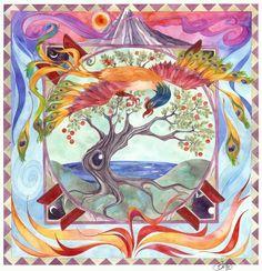 Simurgh Mandala by Joy Gilinsky