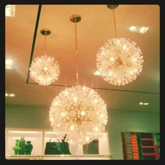 Lighting That Reminds Me Of Dandelion Heads At The Kate Spade Flagship
