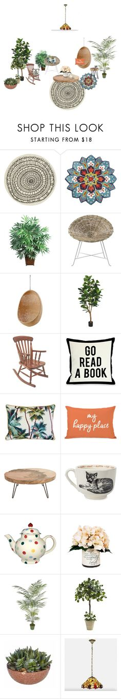 """""""free time"""" by homelava on Polyvore featuring interior, interiors, interior design, home, home decor, interior decorating, CB2, Pier 1 Imports, Nearly Natural and Bloomingville"""