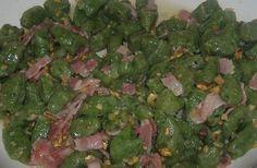 Bon appetit! ricette semplici... Gnocchi di patate e spinaci con rigatino e noci