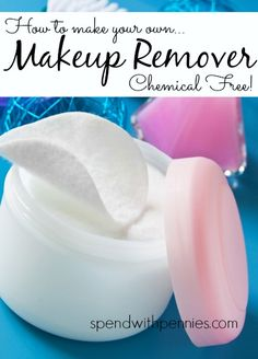 How to make your own Homemade Makeup Removers (Chemical Free!) Love it?  Pin it to SAVE it and SHARE it! Follow Spend With Pennies on Pinterest for more great tips, ideas and  recipes! Homemade Makeup Removers Leave your own great tips in the comments...
