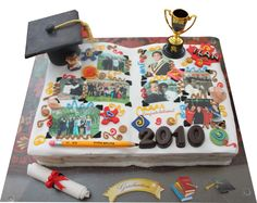 Graduation Cake-like a scrapbook page