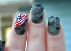 65 Super Ideas for nails white blue american flag Nails american nails Military Nails, Army Nails, Marine Nails, Army Nail Art, American Flag Nails, Country Nails, Patriotic Nails, Holiday Nails, Trendy Nails