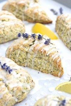 Lemon Lavender Poppy Seed Scones ...I need to try these gluten free.