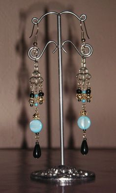 GP Dyed Jade & Onyx Chandelier Drops (part 1 of 2 pce set)