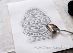 Diy Dinner Napkin Image Transfer Tutorial {with Bliss Ranch!}