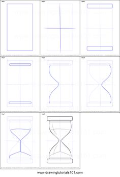 How to Draw an Hourglass printable step by step drawing sheet : DrawingTutorials101.com