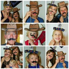 FUN photobooth props for the Cowboy Party- found this free printable...  http://ohhappyday.com/2011/05/photobooth-props-diy-and-free-printable-2/