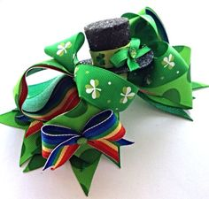 LAST ONESt. Patricks Day Hair Bow St. Patricks Day by CreateAlley, $16.00