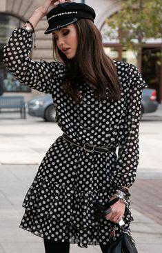 Roco Szyfonowa sukienka w groszki 259/D89 Vintage, Style, Fashion, Swag, Moda, Fashion Styles, Fasion, Vintage Comics, Primitive