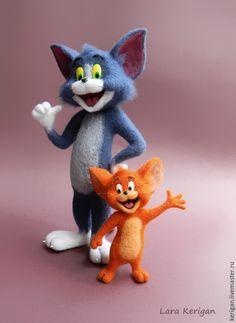 Купить Том и Джерри - разноцветный, том и джерри, кот и мышь, мультфильмы, мультгерои, мышонок