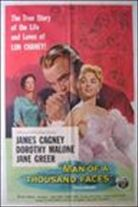 Man of a Thousand Faces (1957). Starring: James Cagney, Dorothy Malone, Jane Greer, Jim Backus and Jack Albertson