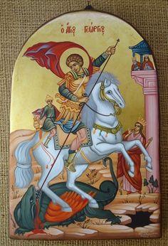 Religious Icons, Religious Art, Saint George And The Dragon, Cross Jewelry, Orthodox Icons, Byzantine, Princess Zelda, Wall Paintings, Symbols