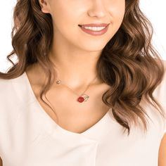 This playful Mine Necklace is colorful, fun, and full of cool romance. It features a lips motif embellished with red crystals, a rhodium-plated lips silhouette, and eye-catching crystal embellishments on the chain. Minions, Mixed Metals, Swarovski Crystals, Arrow Necklace, Jewelry Necklaces, Lips, Chain, Silhouette, Rose
