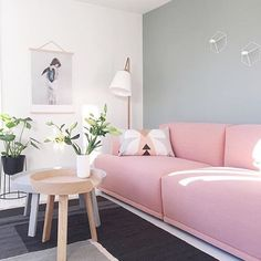 Pink couch anyone? We have this Menu plant stand in stock now @immyandindi - tap for other product details | credit: @nordiskehjem