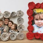 newspaper coil frames - a great upcycled project - turn old newspapers into…