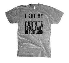 Portland Food Cart T-Shirt from the FOODIES collection by The Social Dept. ($25)