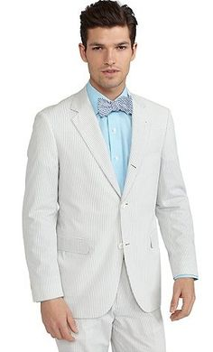 Loving this handsome seersucker suit from Brooks Brothers! $298.80
