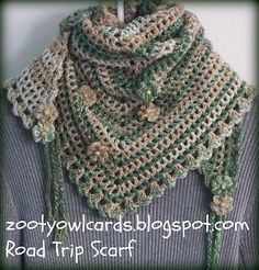 A pattern which can easily be made bigger or smaller by increasing or decreasing the number of row repeats. I used DK Variegated - but any weight of yarn would work well.