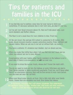 Tips for Patients and Families in the ICU