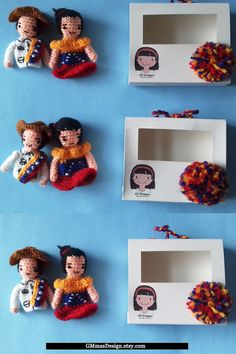 Baby Toddler Gifts for children birthday baby boy educational toys Waldorf summer finger puppets traditional dolls toys theater Set of 5  Finger puppets, dolls with traditional costumes from Venezuela You can order any type of traditional dolls  #toys #fingerpuppets #venezuela