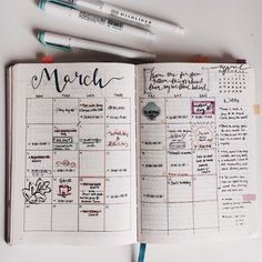 Cute March calendar!  Credit to tumblr user studyfulltime  #study #studyblr…
