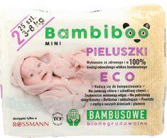 Bambiboo, Mini, pieluchy bambusowe, biodegradowalne, 3-8 kg, 25 szt., nr kat. 274040 - Internetowa drogeria Rossmann - Zakupy online