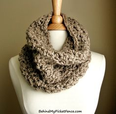 New BOARDWALK COWL in Taupe by www.BehindMyPicketFence.com