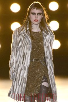 Saint Laurent Gold Gown from the Fall 2015 Collection