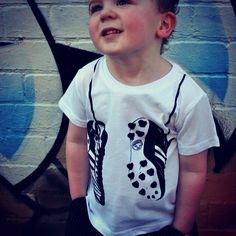 We are hoping for smiles all-round after the Hawks clash with Geelong on Friday night! Max in his Young and Moodie footy tee