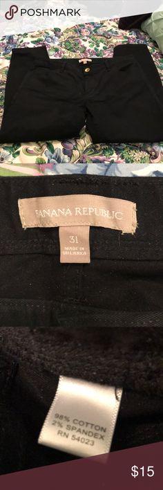 Black Banana Republic pants Black pants that are so comfy.  28 inch inseam. Banana Republic Pants Straight Leg