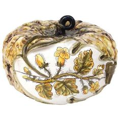 Italian Majolica Squash Tureen ($425) ❤ liked on Polyvore featuring home, kitchen & dining, serveware, soup tureens and italian soup tureen