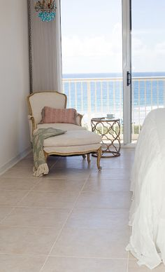 French Style Beach Bedroom from Shabbyfufu Blog.  Come see a little of the redesign from the beach house!