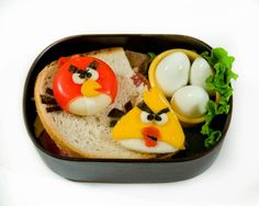 Angry Birds (healthy options whole wheat bread)