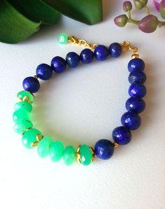 Bratara lapis lazuli si crisopraz (250 LEI la Megara.breslo.ro)