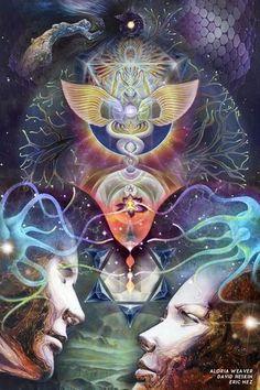 "otherealm: "" 'Ascension', collaboration between Aloria Weaver, David Heskin & Eric Nez "" Tantra, Psychadelic Art, Flame Art, Psy Art, Art Graphique, Visionary Art, Sacred Art, Fractal Art, Sacred Geometry"