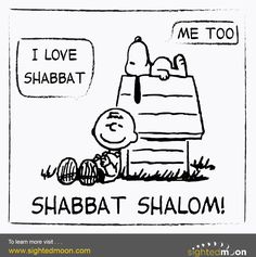 Snoopy loves Shabbat