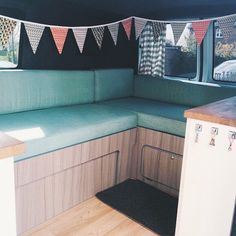 Fabulous motorhome cushions upholstered in Warwick Diego Lagoon Vehicle Upholstery, Outdoor Furniture, Outdoor Decor, Motorhome, Caravan, Cushions, Photo And Video, Projects, Inspiration