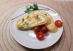 Sajttekercs tojással, sonkával | Kischery receptje - Cookpad receptek