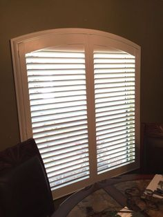 Louvered Arch Shutter Installation By Budget Blinds Of Clermont Shutters