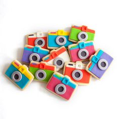 camera cookie gift box 9 cookies by manjar on Etsy