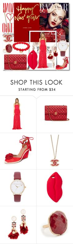 """New Year Party Girl!!"" by stylediva20 ❤ liked on Polyvore featuring Naomi Campbell, Alexis, Chanel, Aquazzura, Kate Spade, STELLA McCARTNEY, Tory Burch, NAKAMOL and Sydney Evan"