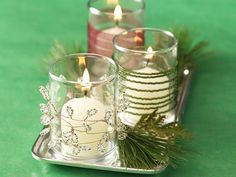 Twinkling Beaded Votives- these are PERFECT!!!!!