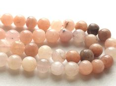 Pink Cats Eye Stone Cats Eye Round Beads by gemsforjewels on Etsy