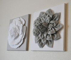 Schilderijen met vilte bloemen - Welke.nl