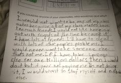 """Yesha on Twitter: """"So my niece had to answer a question for school: 'If you could be any of your classmates who would you be & why?' https://t.co/cdNTJboOut"""""""